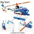 Projetos criativos Blocos de Construção Da Educação Plastic Toy Crianças Desenvolvimento Intelectual Construir Conceito dos desenhos animados Aviões brinquedos