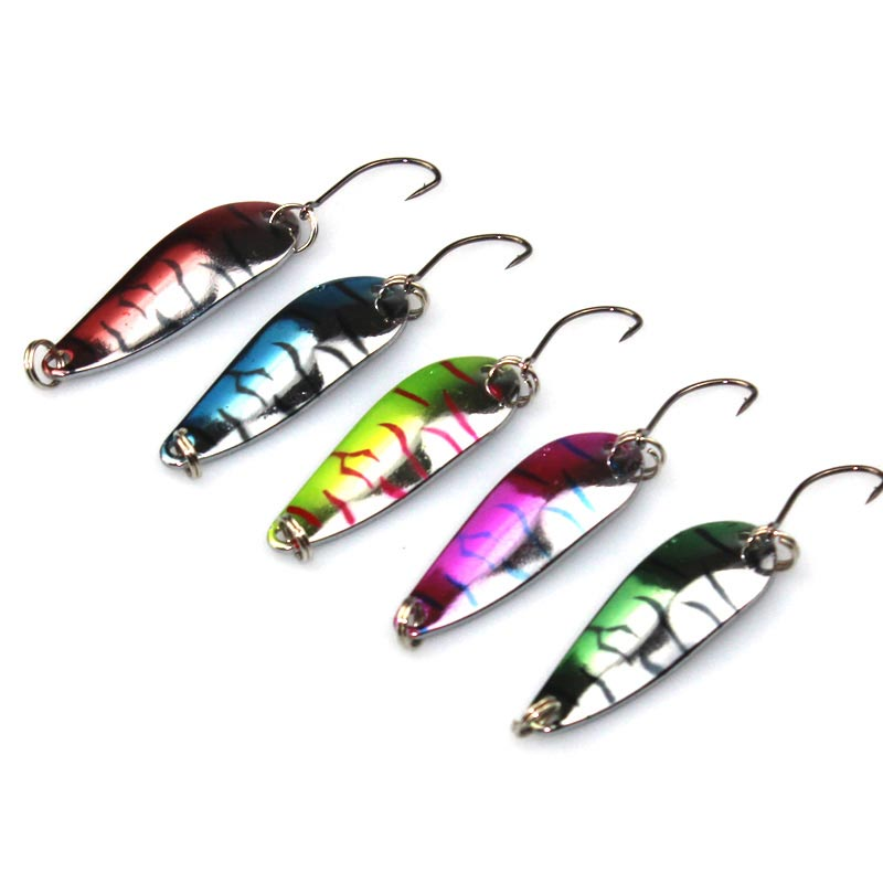 1PCS 4.2cm 5.6g Spinner Spoon Fishing Lure Metal Fish Lures Hard Wobbler Crankbaits Swim Crank Bait Tiger Stripes 1pc original q5 led driver led headlight drl ballast 8r0 907 472 b 8r0907472b 10045 17078 genuine and used