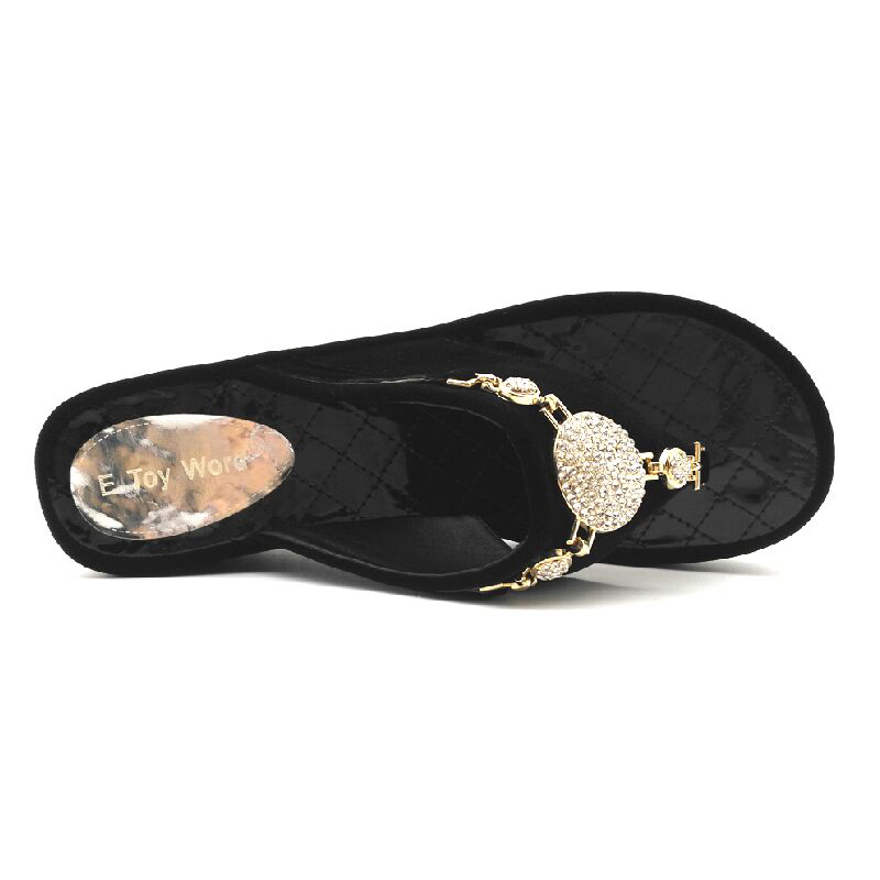 6dd65d7553eb6d E TOY WORD women slippers summer white flip flops women Platform Rhinestone  Sandals Ladies shoes beach slippers women Size 35 43-in Flip Flops from  Shoes on ...