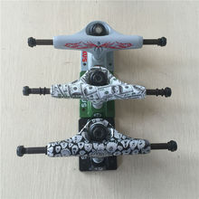 2Pcs Quality 5.0″Low Rocus Skate board Truck made by Aluminum with design USD DOLLER and color logo Trucks for 7.5-8 inch decks