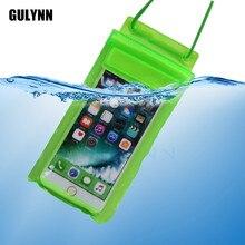 """Для универсальных 4,""""-6,0"""" водонепроницаемый чехол для iPhone X 8 7 6S samsung Galaxy S8 9 камера для плавания сумка для мобильного телефона"""