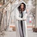 Женщины Длинные Кардиганы с кистями Женщин Свитер boho Chic Леди Зима теплая Вязаная бренд модной одежды высокого качества
