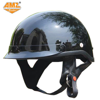 AMZ DOT Certification Harley Motorcycle Half Helmet Retro Moto Motorcross Racing Scooter Motocicleta Helmet