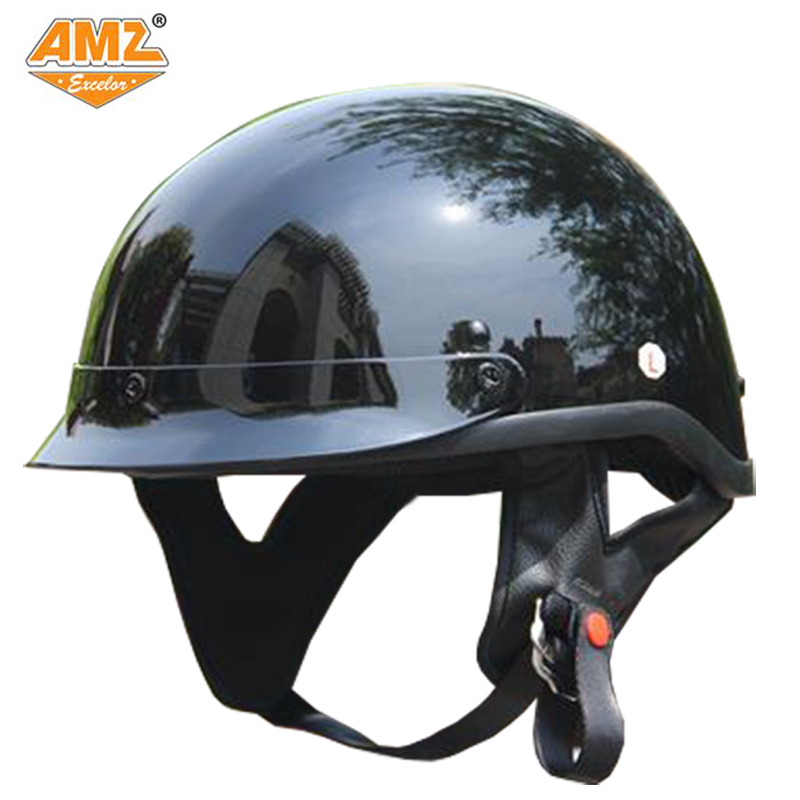 AMZ DOT Certification Harley Motorcycle Half Helmet Retro Moto Motorcross Racing Scooter Motocicleta Helmet