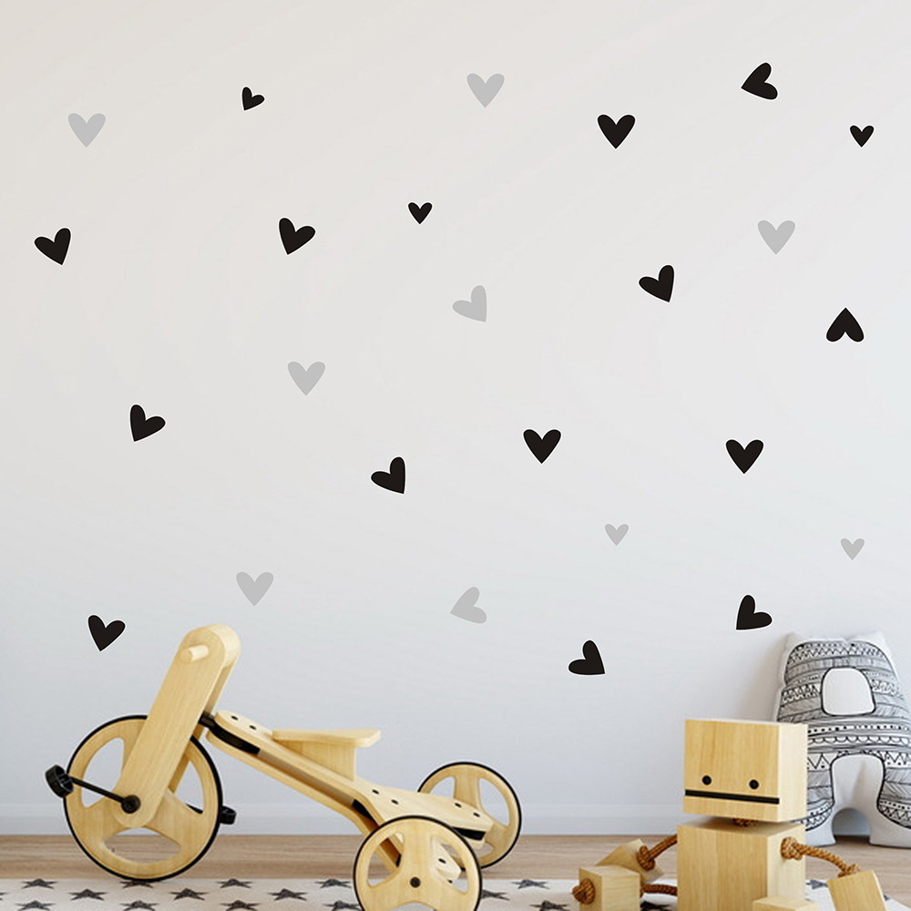 22pcs/set Small Love Heart Home Decor Wall Sticker Decal Bedroom Vinyl Art Mural Home Decoration Decals Removable Poster O28