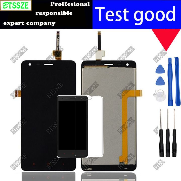with temperd glass for 4 7 inch xiaomi redmi2 original lcd display touch screen assembly for