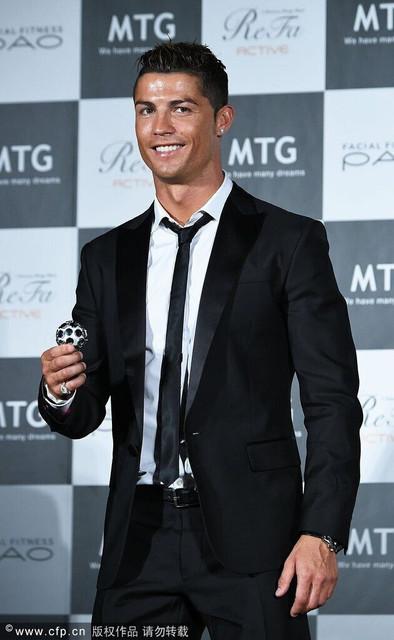 Venda quente Cristiano Ronaldo mesmo estilo Slim Fit noivo Formal preto ternos 2 peça ternos ( Jacket + Pants + Tie )