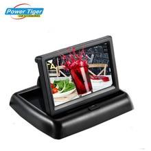 Nouveau Pliable Numérique TFT LCD Écran Moniteur De Voiture Pour Vue Arrière de Voiture Caméra de Recul Ou DVD Soutien NTSC/PAL(China (Mainland))