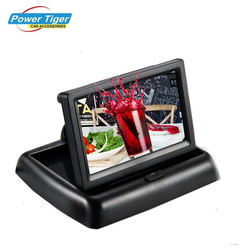 Новый складной TFT ЖК-дисплей Экран автомобиля Мониторы для заднего вида Камера или DVD Поддержка NTSC/PAL