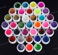 wholesale 36 Colors Glitter shiny UV Builder gel Nail Art Tips Gel
