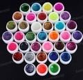 wholesale 36 Colors Glitter shiny UV Builder gel Nail Art Tips Gel