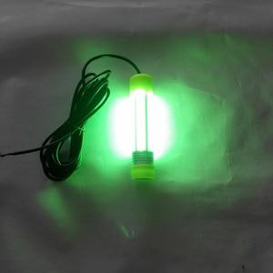 Image 5 - 10 w 20 w 12 24 v DC COB דיג אור מתחת למים דגים למשוך אור לילה דיג פתיונות עם 6 m כבל