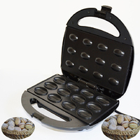 JamieLin Household Electric Walnut Cake Maker Small Nut Waffle Machine Sandwich Iron Toaster Breakfast Baking Pan