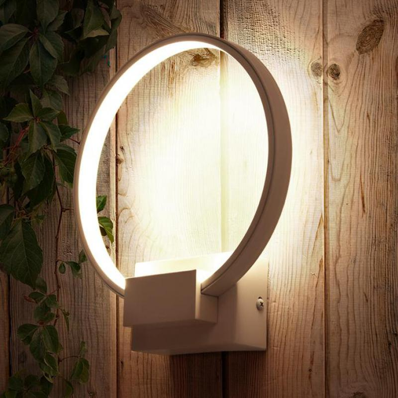 Post modern Led Ring Lamp Luminaire Bedside Balcony Aisle indoor square wall sconce round mirror Led strip indoor wall lighting lediary modern led wall lamp 100 240v 20w 61cm led indoor wall sconce lamps as bedside decoration light lighting mirror lamp