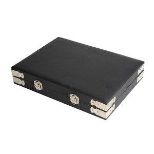 Image 5 - באיכות גבוהה שחור עור חן נסיעות יהלום תיבת אחסון מקרה תכשיטי מחזיק 2.8cm 70pcs,4cm 48pcs בתוך פנינה תיבת Protable