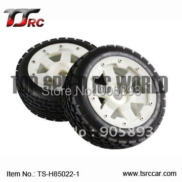 Nylon Super Star Wheel and Tyres - Front x 2pcs for Baja 5B, SS (85022-1) , wholesale and retail 5b front highway road wheel set ts h95086 x 2pcs for 1 5 baja 5b wholesale and retail page 1