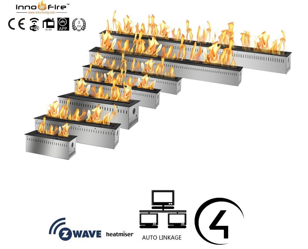 Inno living fire 24inch black/silver remote ethanol fireplace modernInno living fire 24inch black/silver remote ethanol fireplace modern