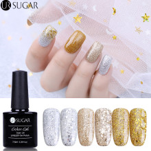 UR SUGAR Champagne Emas Perak Glitter Gel Nail Polish Super Bersinar Glitter Berlian UV Gel 7.5 ml Manicure Rendam Off Gel Varnish