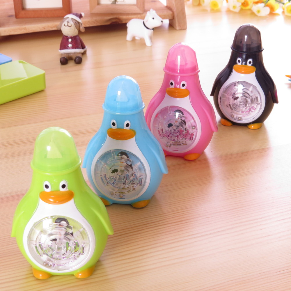Korea stationery fun big maze tape student supplies Arctic king penguins correction tape 8.5*5.8*4CM a set of 8pcs цена и фото