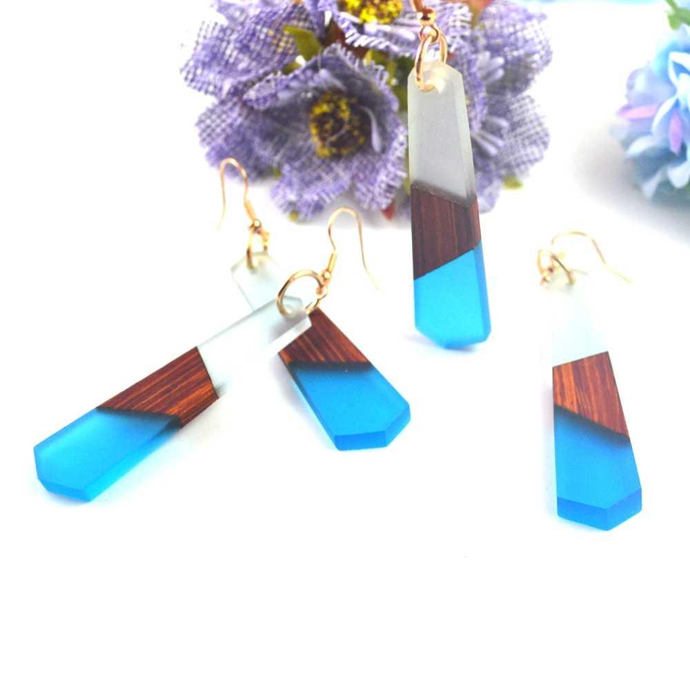 여성 귀걸이 쥬얼리 패션 복고풍 목재 수지, 천연 곡물의 손으로 만든 특징, 공장 도매 선물.