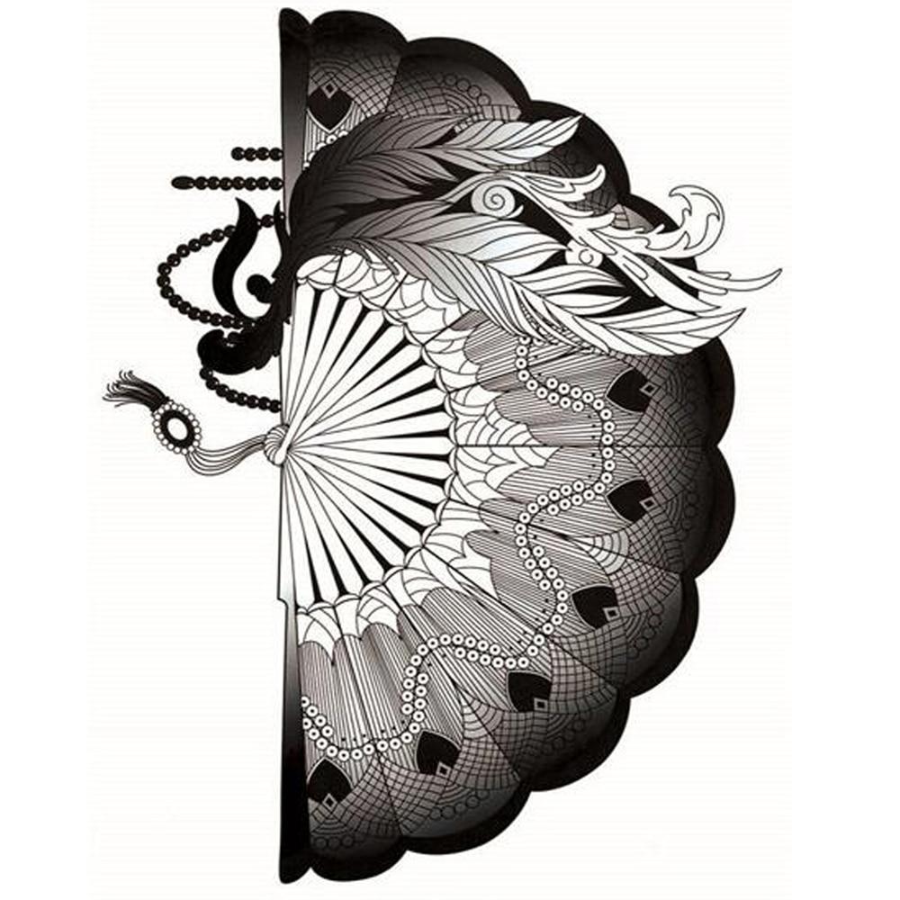 ③Yeeech temporal tatuajes pegatina para las mujeres Fake ventilador ...