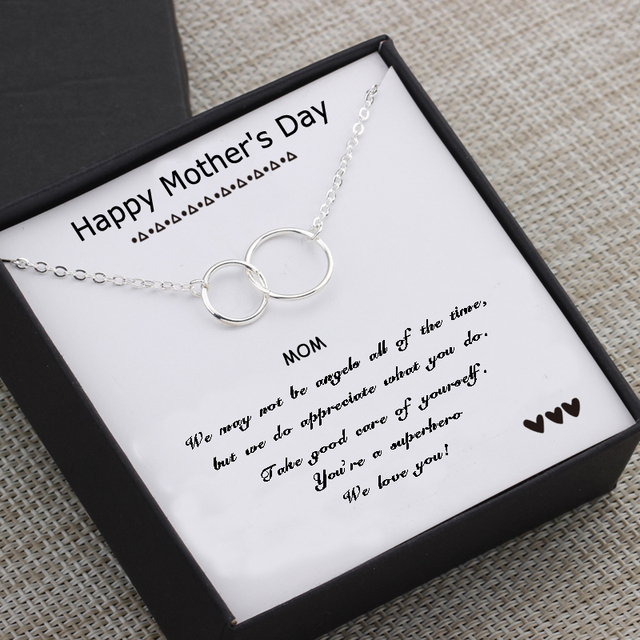 Circles Necklace  Happy Mother's Day Gifts Card  3