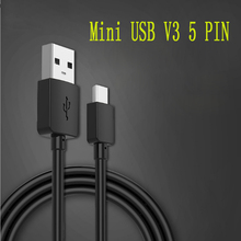 10 pcs a lot Mini USB Cable 5 Pin V3 Male to Data Sync Charging Line for MP3 MP4 Player