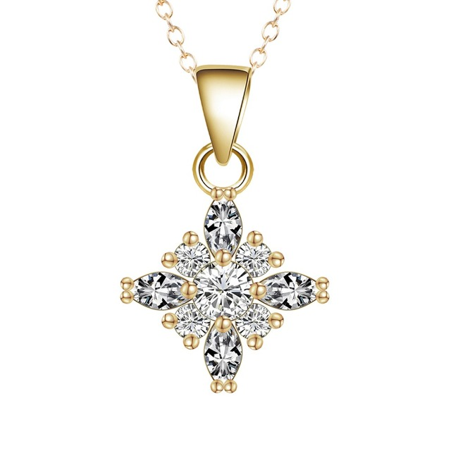 QIMING New Gold Celtic Cross Necklace For Women Fashion Jewelry
