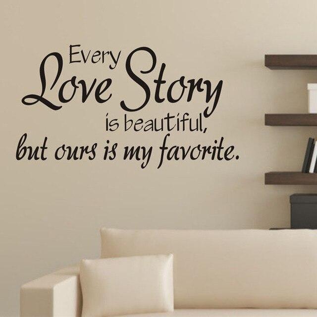 Best Seller New 1pc 60x32cm Love Story Poetry Art Background Diy