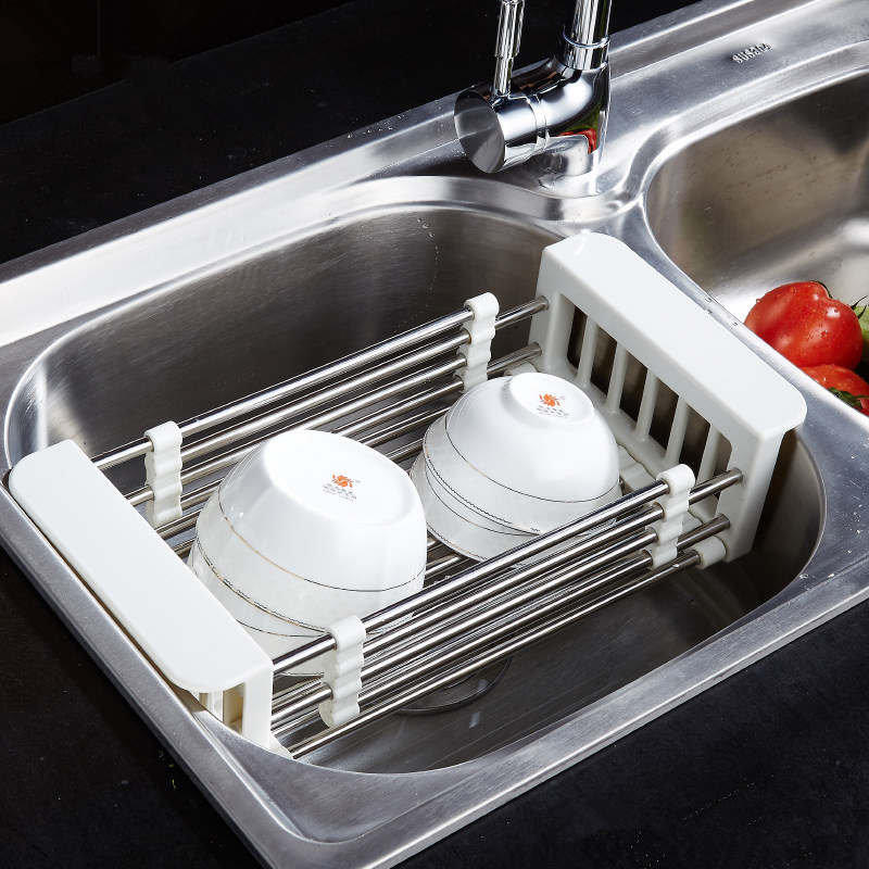 Telescopic kitchen sink tray stainless steel dish rack insert telescopic kitchen sink tray stainless steel dish rack insert storage organizer drying tray shelf draining rack storage holder in racks holders from home workwithnaturefo