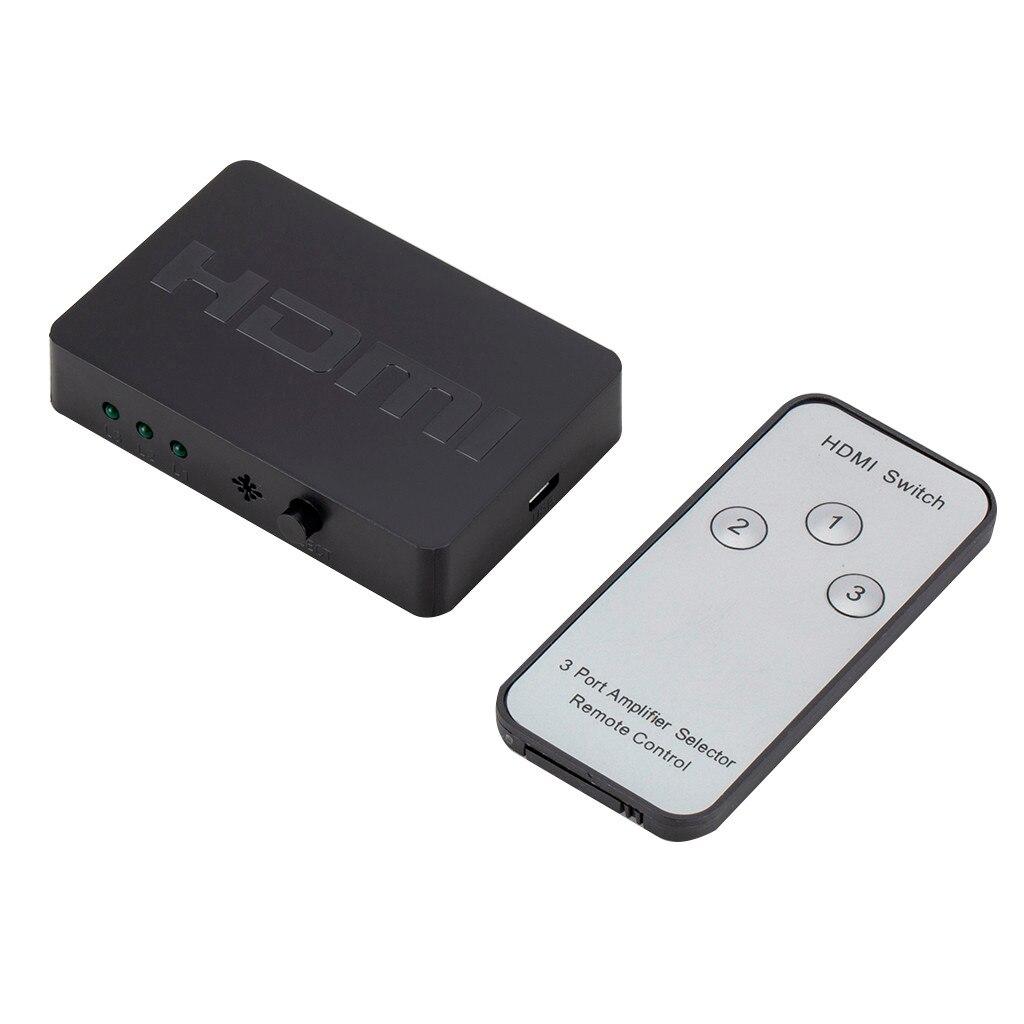 3-портовый разветвитель HDMI 3x1, автоматический переключатель 3-в-1, переключатель 1080p HD 1,4 с пультом дистанционного управления для проектора HDTV ...