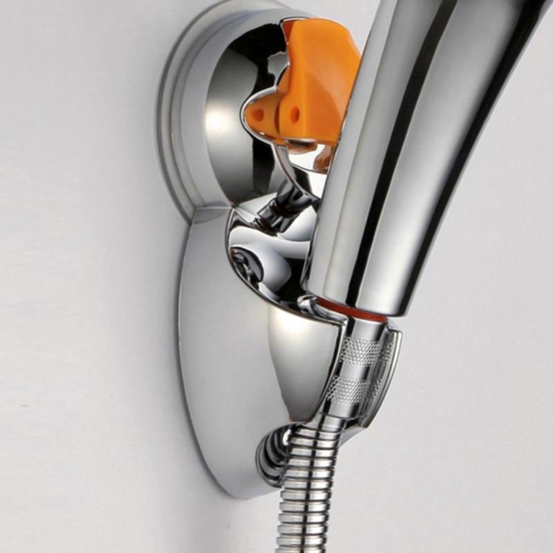 new adjustable aluminum sprinkler base bathroom shower head holder suction cup for bathroom accessories j2y