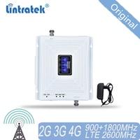 4 グラムリピータ GSM 900 DCS/LTE 1800 FDD LTE 2600 モバイル信号リピータ 2 グラム 3 グラム 4 3g トライバンド信号ブースター RU 携帯アンプ 35
