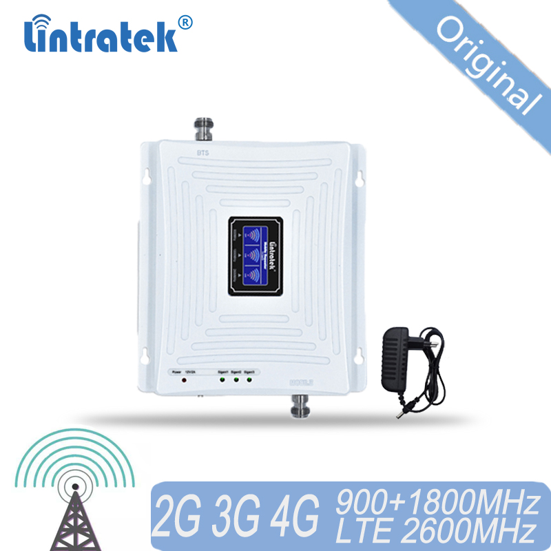 4g Repeater GSM 900 DCS/LTE 1800 FDD LTE 2600 Mobile Signal Repeater 2G 3G 4G Tri-Band Signal Booster RU Cellular Amplifier 35