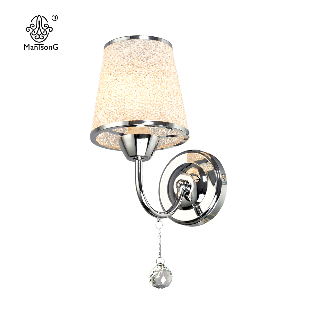 Classical Crystal Wall Light Glass Vintage Sconce Crome Wall Lamp 1 head Home Decor Lighting Fixture Bedroom Living Room Design
