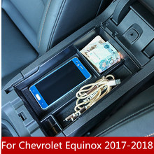 купить Car Central Console Armrest Box Storage Container Organizer Holder Case Tray For Chevrolet Equinox 2017-2018 Accessories дешево
