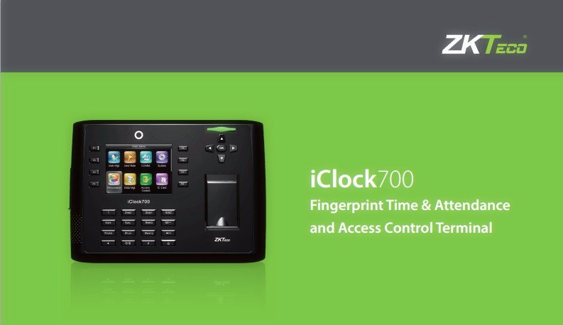 ICLOCK700 TIME ATTENDANCE ACCESS CONTROL_2