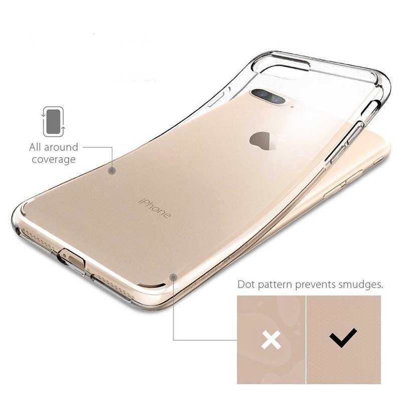 Portefeuille حقيبة لهاتف أي فون 6 6S X XR XS ماكس 7 8 زائد شفافة عودة لينة سيليكون TPU الغطاء الخلفي كوكه ل فون 11 برو ماكس