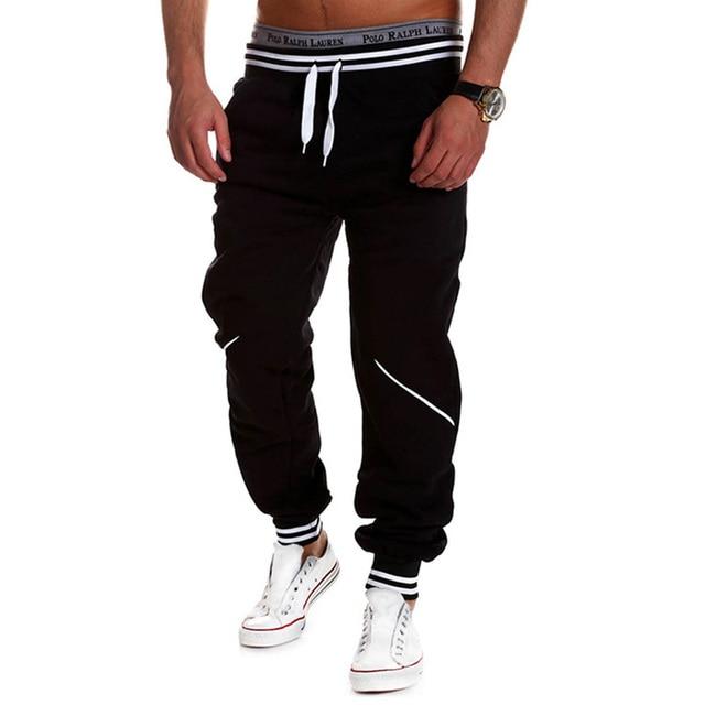 Contrast Color Elastic Men's Pants 10