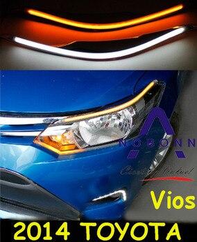 Vios daytime light,2014~2016;Free ship!LED,Vios fog light,2ps/set,Reiz,prado,camry,Vigo,Vios