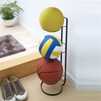 Baffect Storage Rack for Basketball Volleyball Football Folding Iron Dispaly Rack Holder Stand Ball Storage Shelves Home