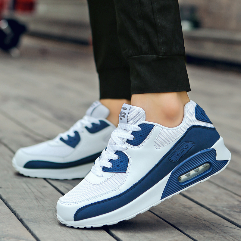 hot 2019 Men Spring Fall Popular Quality Fashion Unisex Cushion Casual Shoes Light Sneakers Man Lace-up Breathable drop shipping