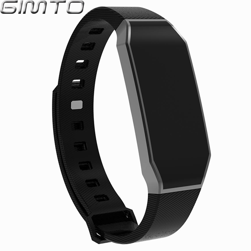 GIMTO Women Men Smart Bracelet Watch Sport Waterproof blood pressure heart rate monitor blood oxygen Pedometer For Android IOS gimto new men sport smart watch led digital waterproof bluetooth smartwatch heart rate blood pressure pedometer for ios android