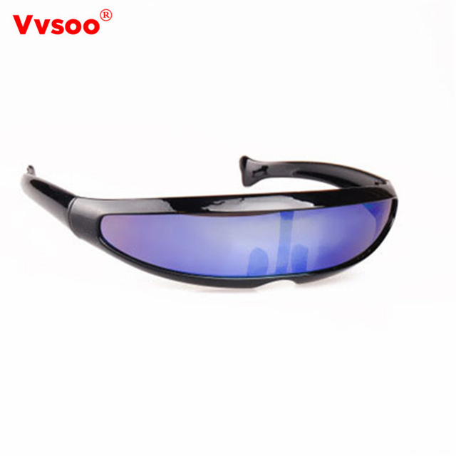 6f8d61c06034 Narrow Cyclops Sunglasses UV400 Personality Mirrored Lens Costume Eyewear  Glasses Novelty Party Decoration