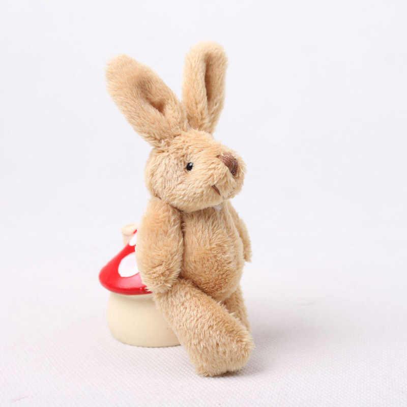 50 шт./партия Kawaii Mini Bunny 11 см плюшевые игрушки, забавные мягкие игрушки с кроликом, Маленькая подвеска на телефон, подарки на свадьбу 03102
