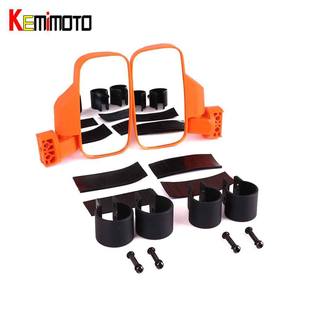 KEMiMOTO 1.75 2 UTV Side Mirror Rear view mirrors UTV Rearviw Racing Mirror Set Roll Bar Cage for Polaris RZR Ranger 1000 900