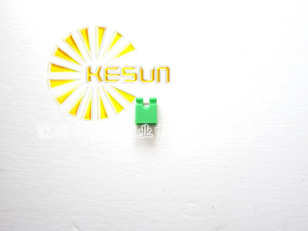 2000pcs/lot 2.54mm Green Open Type Mini Jumper for Pin Header