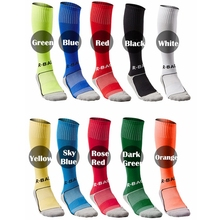 R-BAO 1 Pair Cotton mens kids boys sports Socks Durable Long Soccer Football Breathable Anti-slip For 8-12 Years Old Child