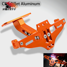 цены CNC Motorcycle License Plate Bracket Holder FOR ktm duke RC 125 200 390 690 smc 1290 rc honda kawasaki yamaha tmax 530 500 r25