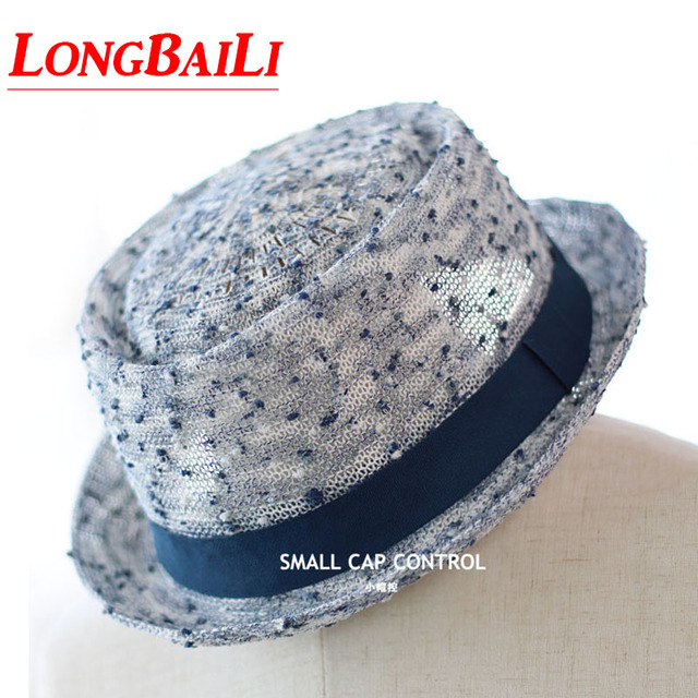 1f9518eda9f Summer New Fashion Lovers Straw Fedora Hats Female Pork Pie Hats For Men  Chapeu Sun Beach Caps ELDS006